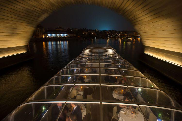 A glass boat